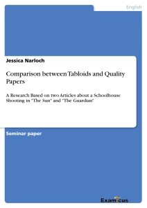 Titel: Comparison between Tabloids and Quality Papers