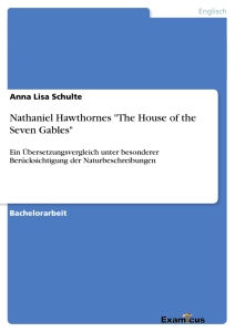"Title: Nathaniel Hawthornes ""The House of the Seven Gables"""