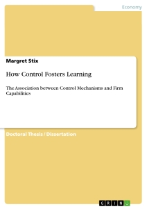 Title: How Control Fosters Learning