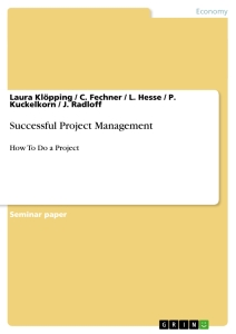 Title: Successful Project Management