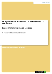 Title: Entrepreneurship and Gender