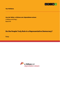 Title: Do the People Truly Rule in a Representative Democracy?