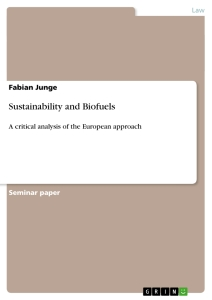 Title: Sustainability and Biofuels