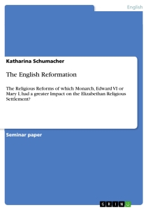 Titel: The English Reformation