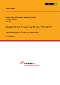 Title: Change in Reality Programming Between 1990 and 2012