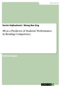 Title: MI as a Predictor of Students' Performance in Reading Competency