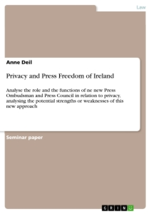 Titel: Privacy and Press Freedom of Ireland