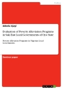 Title: Evaluation of Poverty Alleviation Programs in Saki East Local Governments of Oyo State