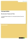 Titel: Restaurant Financial Plan