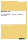 Title: CFI'S Microfinance Program: A Self-Rated Assessment