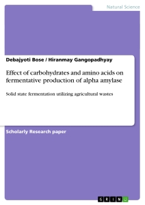 Title: Effect of carbohydrates and amino acids on fermentative production of alpha amylase