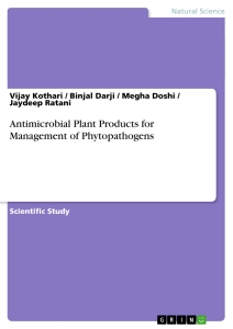 Title: Antimicrobial Plant Products for Management of Phytopathogens