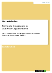 Titel: Corporate Governance in Nonprofit-Organisationen