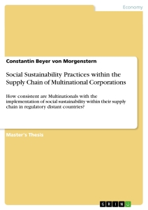 Titel: Social Sustainability Practices within the Supply Chain of Multinational Corporations