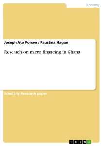 Title: Research on micro financing in Ghana