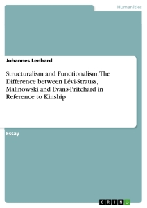 Title: Structuralism and Functionalism. The Difference between Lévi-Strauss, Malinowski and Evans-Pritchard in Reference to Kinship