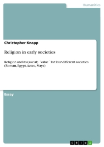 Titel: Religion in early societies