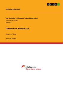 Titel: Comparative Analysis Law