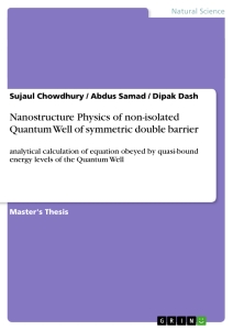 Title: Nanostructure Physics of non-isolated Quantum Well of symmetric double barrier