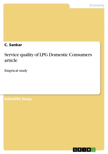 Title: Service quality of LPG Domestic Consumers article