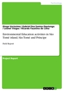 Title: Environmental Education activities in São Tomé island, São Tomé and Príncipe