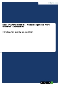 Titel: Electronic Waste mountain
