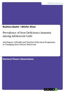 Title: Prevalence of Iron Deficiency Anaemia among Adolescent Girls