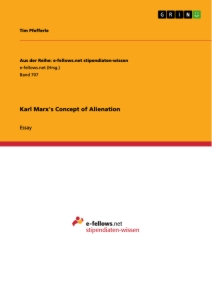 Titel: Karl Marx's Concept of Alienation