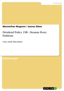 Title: Dividend Policy 19B - Deanna Perez Fashions