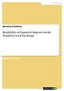 Titel: Readability of Quarterly Reports on the Frankfurt Stock Exchange