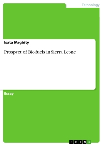 Titel: Prospect of Bio-fuels in Sierra Leone