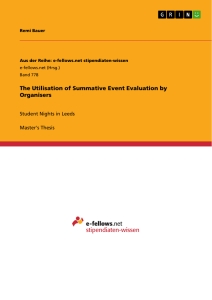 Title: The Utilisation of Summative Event Evaluation by Organisers