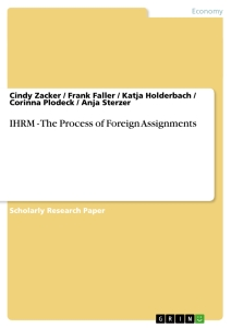 Title: IHRM - The Process of Foreign Assignments