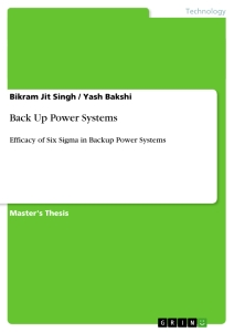 Title: Back Up Power Systems