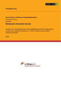 Title: Botswana's Economic Success