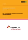 Titel: Role of Home Country Institutional Environment in International Strategy