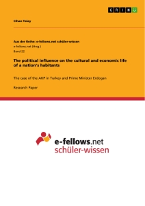 Title: The political influence on the cultural and economic life of a nation's habitants