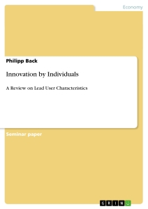 Title: Innovation by Individuals