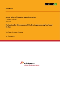 Title: Protectionist Measures within the Japanese Agricultural Sector