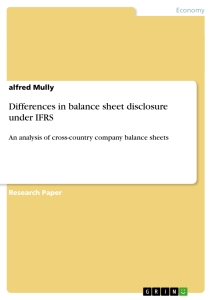 Title: Differences in balance sheet disclosure under IFRS