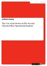 Title: The Use of Air Power in The Second Chechen War. Operational Analysis