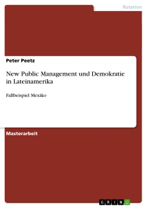 Titel: New Public Management und Demokratie in Lateinamerika