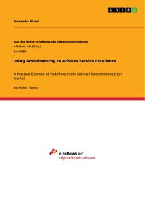 Title: Using Ambidexterity to Achieve Service Excellence