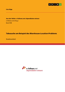 Titel: Tabusuche am Beispiel des Warehouse-Location-Problems