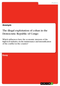 Title: The illegal exploitation of coltan in the Democratic Republic of Congo
