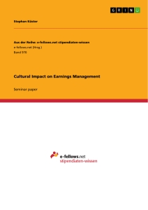 Title: Cultural Impact on Earnings Management