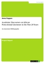 Title: Academic Discourses on African Postcolonial Literature in the Past 20 Years