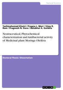 Titre: Neutraceutical, Phytochemical characterization and Antibacterial activity of Medicinal plant Moringa Oleifera