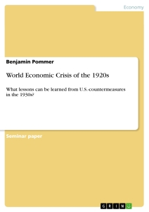 Title: World Economic Crisis of the 1920s