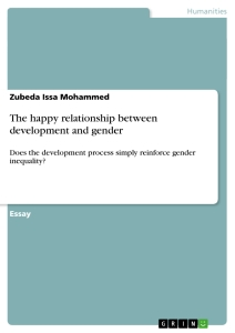 Title: The happy relationship between development and gender